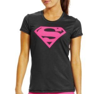 #795 Supper Man Woman under Armour Xl T Shirt